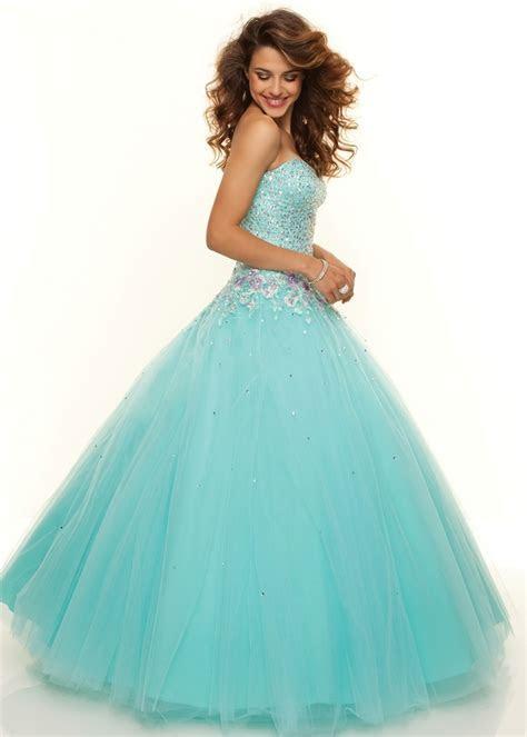 Paparazzi by Mori Lee 93093 Aqua Ball Gown   Prom