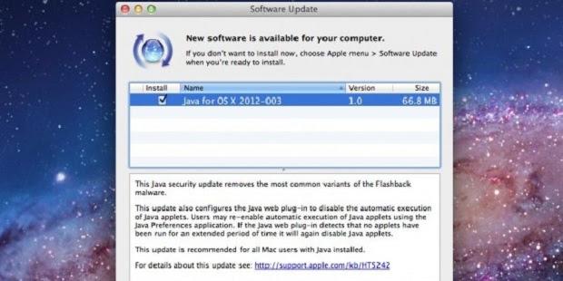 Atualização de segurança do Java para remover o Flashback (Foto: Divulgação)