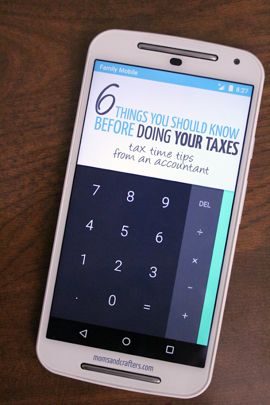Tax Time Tips from my Accountant - Moms and Crafters