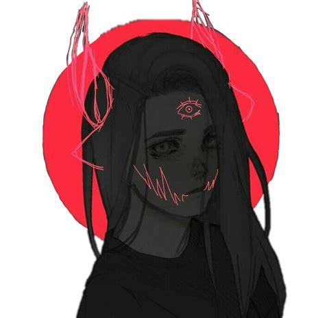 demon anime girl sad