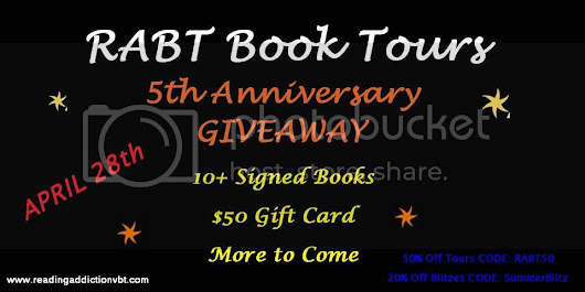 Happy 5th Anniversary RABT Book Tours! #sale #giveaway