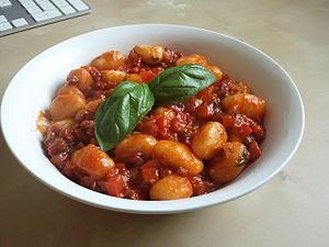 "English: A bowl of ""gnocchi di patate&quo..."