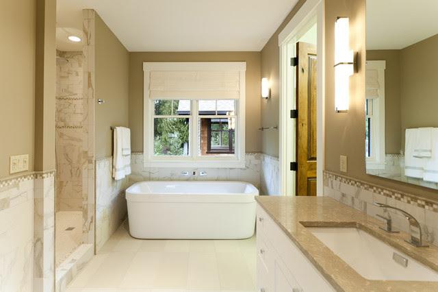Craftsman Master Bathroom - Traditional - Bathroom ...