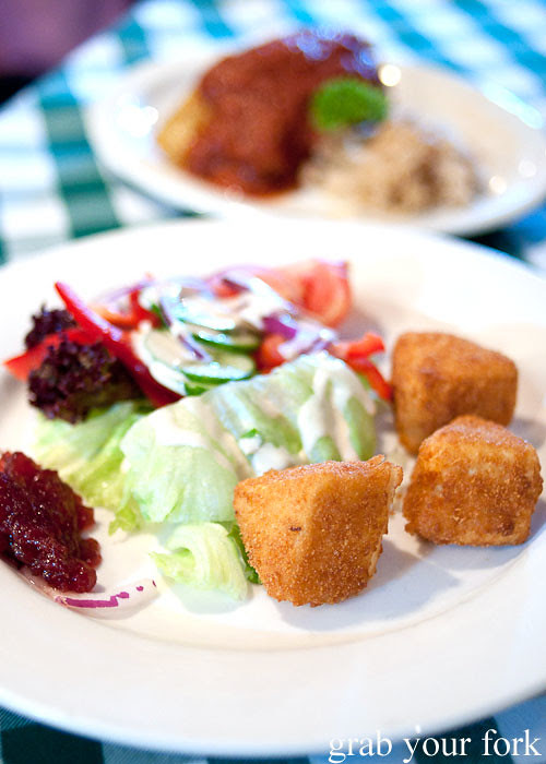 Deep fried camembert at Rhinedorf German Restaurant