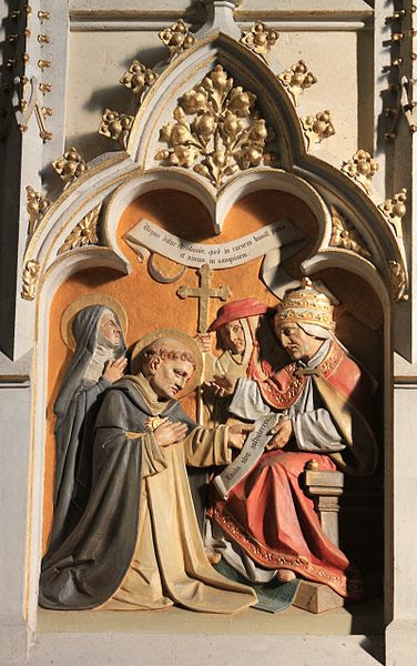 Carving of St. Thomas in the Dominican Church in Friesach, Austria.