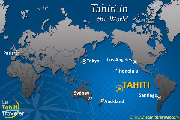 Zip Code Map Tahiti Location On World Map