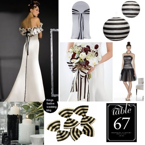 Black And White Striped Wedding Theme Things Festive