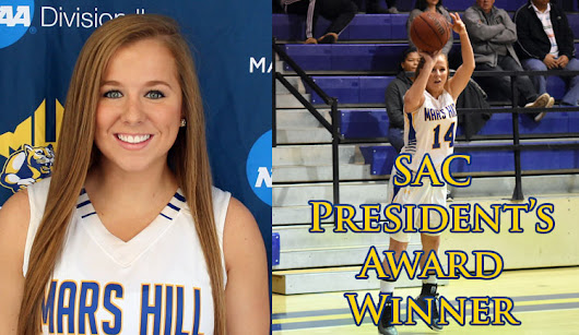 Ansley Ricker Named SAC President's Award Winner -  Mars Hill University