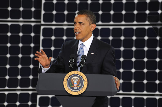Obama signs executive order to cut government's greenhouse gas emissions by 40 percent, increase use of renewable energy - Politics - Articles - Archives