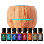 Top 8 Essential Oil Blends & Maple Diffuser Set