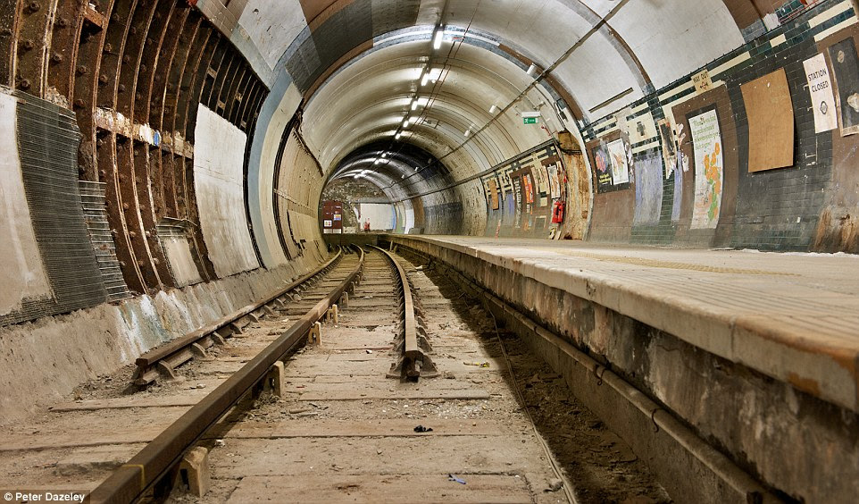 Aldwych: The disused London Underground station was only closed in 1994 and is still visible above ground. It was used by thousands of Londoners during the Blitz