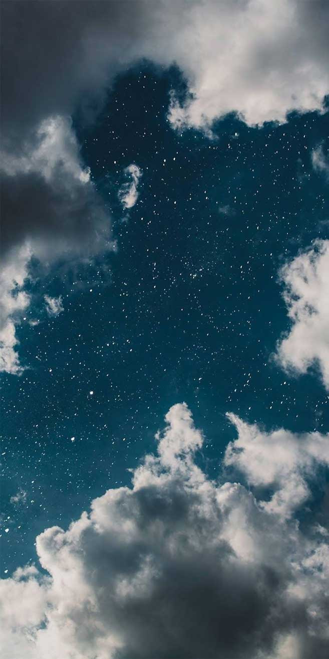 Dreamy Blue Sky Full Of Stars Idea Wallpapers Iphone