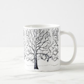 Stately Sketched Tree Mug