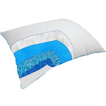 Therapeutic Water Pillow - Fiber filled Down Alternative Waterbased Pillow - Reduced Neck Pain, Improves Sleep, Automatically Adjusts