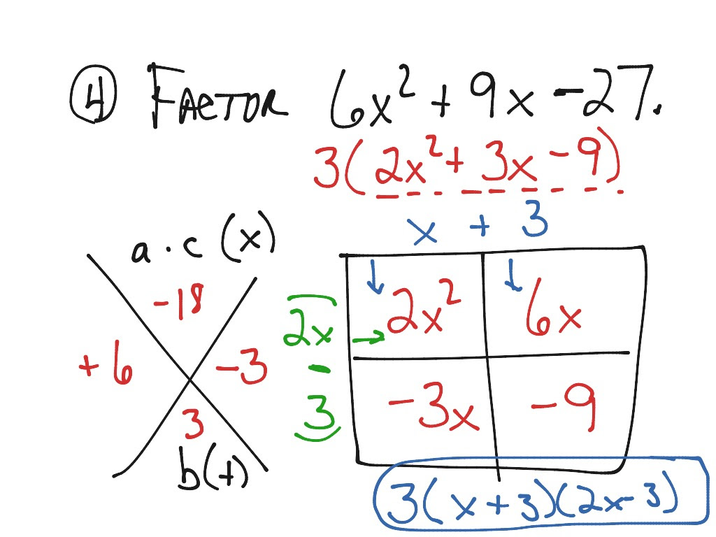 30 Algebra Worksheet Section 106 Factoring Polynomials Of ...
