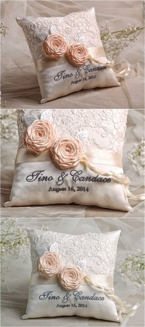 25  best ideas about Ring Bearer Pillows on Pinterest