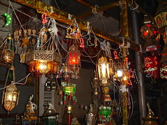 Egyptian traditional lanterns besides the Chinese traditional lanterns