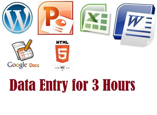 I will do data entry for 3 hours for $5