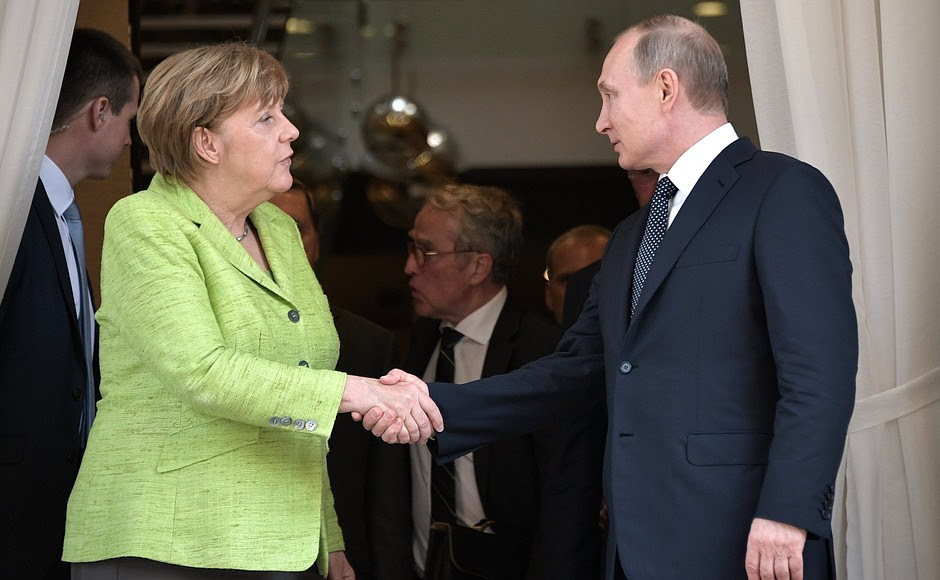 With Federal Chancellor of Germany Angela Merkel.