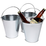 Juvale 3-Pack Galvanized Metal Ice Bucket Pails for Beer, Drinks, and Party Decorations, 7 Inches