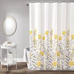 Aprile Shower Curtain Yellow/Gray - Lush Décor