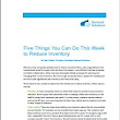 Five Things You Can Do This Week to Reduce Inventory White Paper