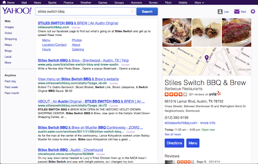 Yahoo Makes the Switch to Yelp Reviews