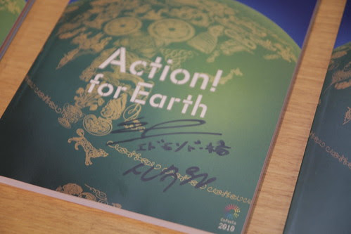 Me autographing the Tokyo Film Fest book