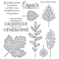 Feuilles Légères Photopolymer Stamp Set (French)