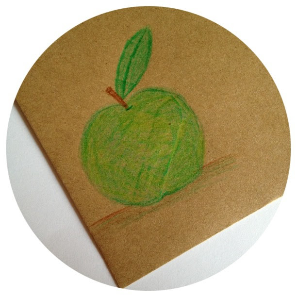 Day 17: green I love green apples or in most cases Granny Smiths #doodleaday #doodleadaymarch #apple