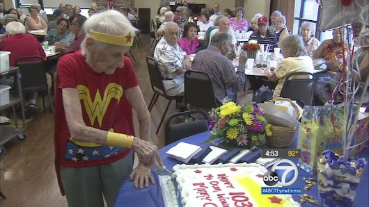 103-year-old woman celebrates birthday by volunteering at Montclair Senior Center |