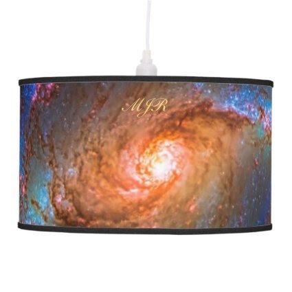 Monogram Barred Spiral Galaxy NGC 1672 Hanging Lamp
