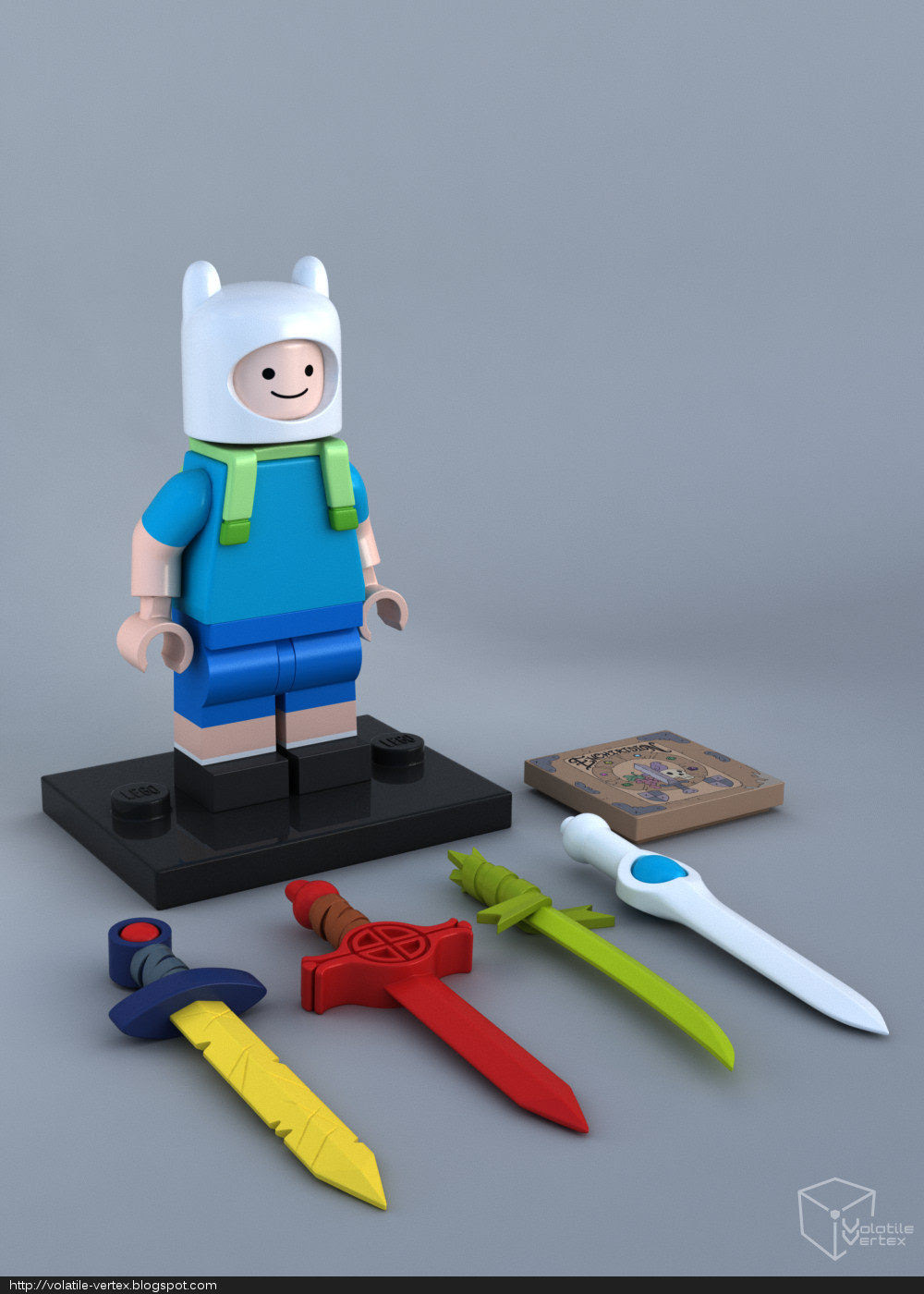 Adventure Time: Lego Finn by Volatile Vertex