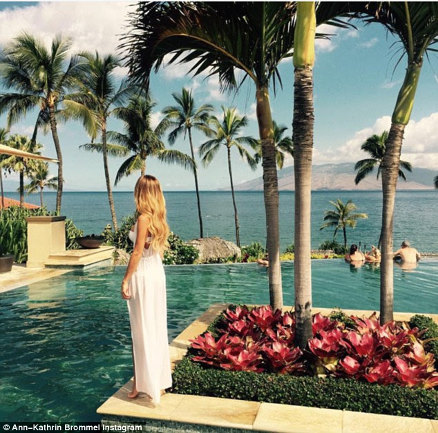 Hawaii: Famed for posing in sultry underwear shots for Modelwerk, stunning Ann's Instagram shows a breathless life travelling the world to rival Viky - girlfriend ofPremier League ace Pellè