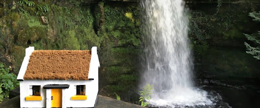 When The Little Yellow Cottage Visited Glencar Waterfall | Pauline's Blog