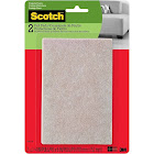 Scotch Felt Pads, Rectangle, Beige, 4 in. x 6 in, 2 Pads/Pack (SP800-NA)