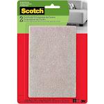 Scotch Felt Pads, Rectangle, Beige, 4 in. x 6 in, 2 Pads/Pack (SP800-NA)