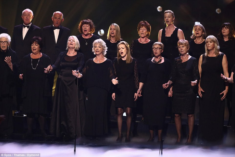 Upsetting:The Missing People's Choir left the judges in tears with their emotional performance