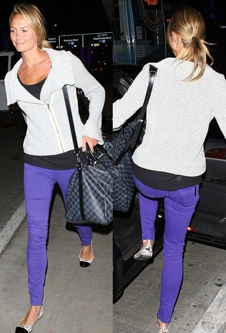 Stacy Keibler wearing Black Orchid Black Jewel Mid Rise Jegging