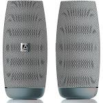 Aduro Resound Mini & XL Portable Wireless Speakers XL Silver/White (AYRVB08)