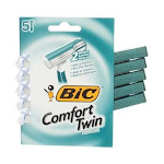 BiC Comfort Twin Sensitive Disposable Razors, 2 Blades, 5 Ct