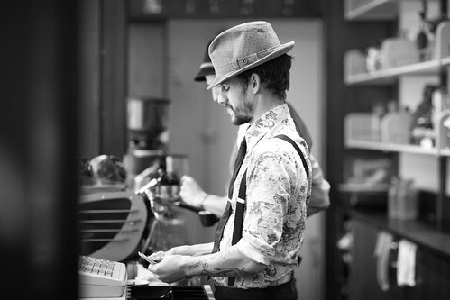 Stumptown barista at the Ace Hotel