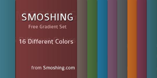 Gradiente gratuito Set: Smoshing por Ubiwebseo