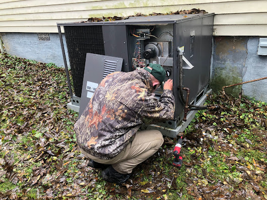 Heating Repairs Underway During Winter Storm!