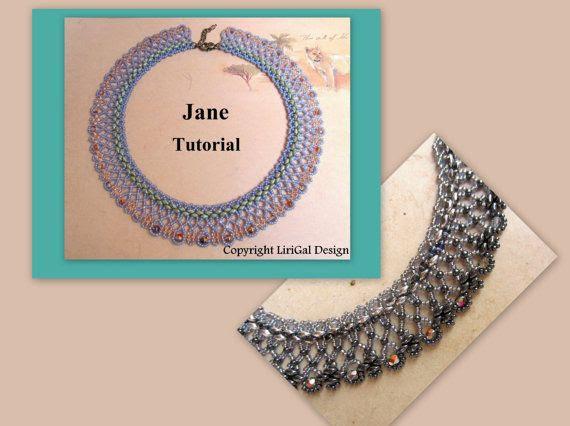 Tutorial Veronika SuperDuo and Pyramid beads Beadwork by Lirigal