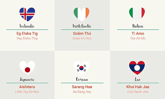 How to say 'I love you' in 50 languages revealed