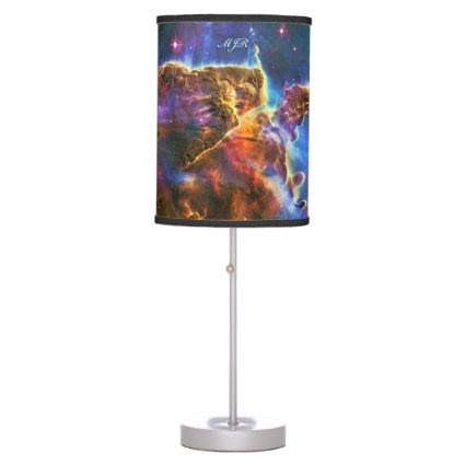 Monogram Carina Nebula Gas-cloud outer space image Table Lamp