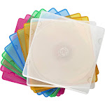 Dynex Color Slim CD DVD Cases 10 Pack Multi