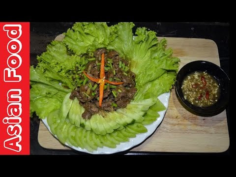 Asian Food - Beef Lok Lak - How to cook beef lok lak