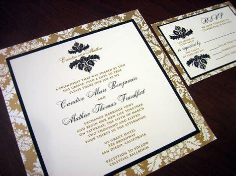 bronze wedding invitation ? A Vibrant Wedding